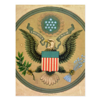 Großes Siegel der Vereinigten Staaten, c.1850 Postkarte