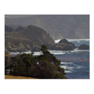 Großes Sur durch Bixby Brücke Kalifornien gemalt Postkarte