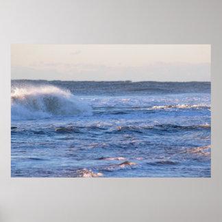 Großes Wellen-Foto Poster