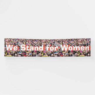 """Großes """"wir stehen für Frauen"""" Protest-Zeichen Banner"""