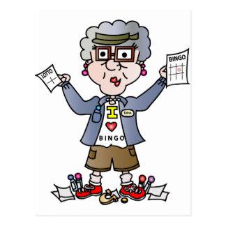 Großmutter-Bingo Postkarte
