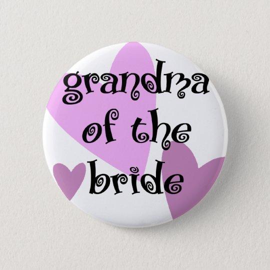 Großmutter der Braut Runder Button 5,7 Cm