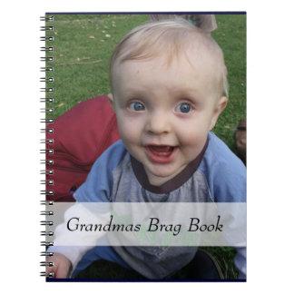 Großmutter-Fotobrag-Buch Spiral Notizblock