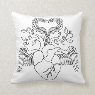 Großmutter-Liebeherzengels-Farbtonkissen Kissen