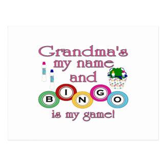 Großmütter mein Namensbingo ist mein Spiel Postkarten