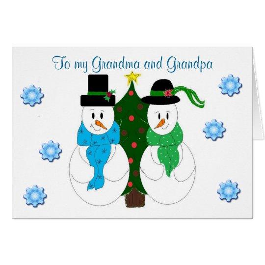 Großmutter und Großvater - Weihnachtskarte Grußkarte