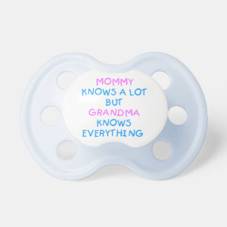 Großmutter weiß alles Geschenk | Mutter Tages Schnuller