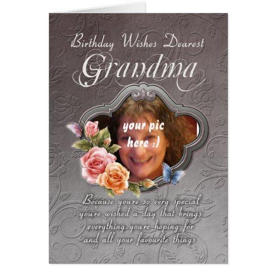 Großmuttergeburtstagskarte - Geburtstag Ihre Grußkarte