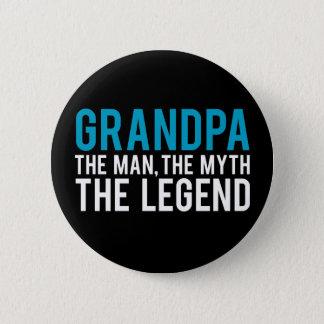 Großvater, der Mann, der Mythos, die Legende Runder Button 5,1 Cm