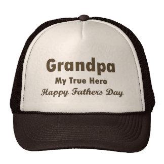 Großvater der mein Vatertag wahrer Held-glückliche Netzkappen