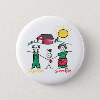 Großvater-Großmutter u. ich Runder Button 5,1 Cm