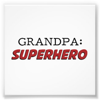Großvater ist ein Superheld-Großvater Kunstphotos