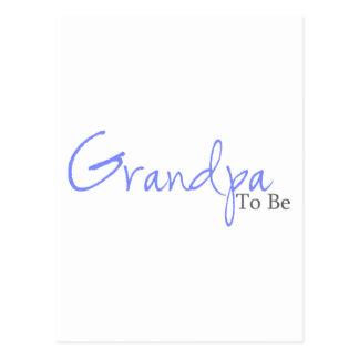 Großvater zum zu sein (blaues Skript) Postkarte
