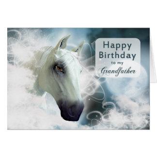 Großväterlicher Geburtstag, ein arabisches Pferd Karte