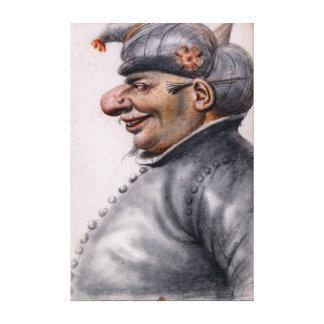 Grotesker Mann Nicolas Lagneau, der einen Turban Leinwanddruck