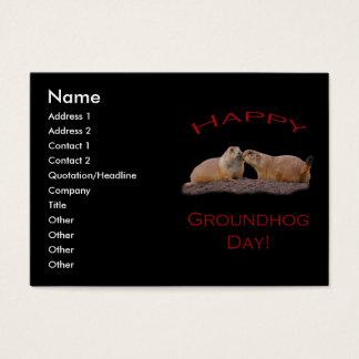 Groundhog Day-Kuss Visitenkarte