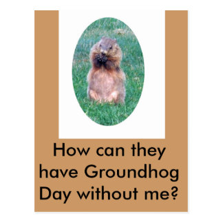Groundhog Day Postkarte