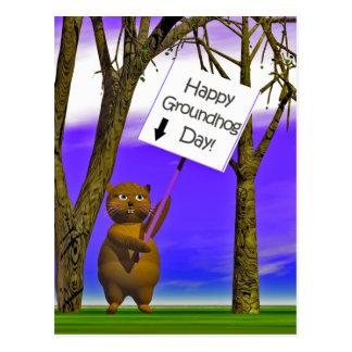 Groundhog Gruß Postkarte