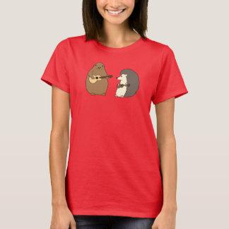 Groundhog, Igel, Ukuleles-T-Stück T-Shirt