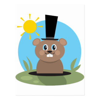 Groundhog Postkarte