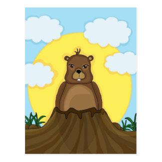 Groundhog Tag Postkarte