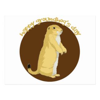 Groundhogs Tag Postkarte