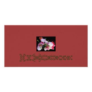 Groupe de carte photo de fleurs photocarte personnalisée