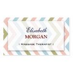 Groupon - Massage-Therapeut-würdevolles Zickzack Visitenkartenvorlagen