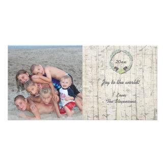 Groupon rustique de Birchwood de carte photo de Photocarte