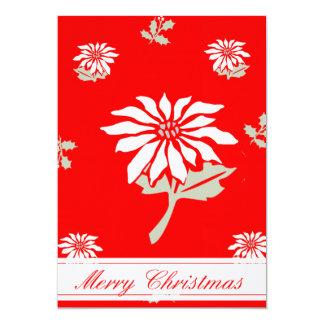 Groupon Vintage Art-Weihnachtspoinsettia-   Karte