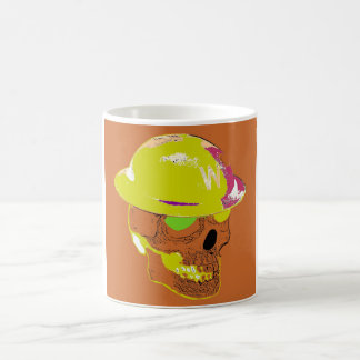 Gruben-Wärter Orange Pop Art Mug Kaffeetasse