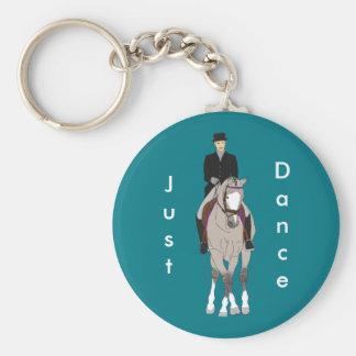 Grulla Dressage-Pferd und Reiter Schlüsselanhänger