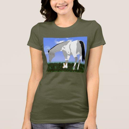 Grullo Tobiano Farben-Pferd T-Shirt