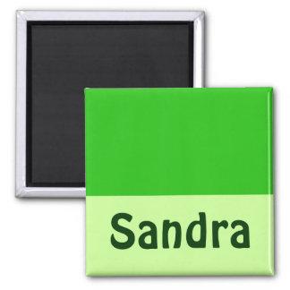 Grün addieren Ihren Namen Quadratischer Magnet