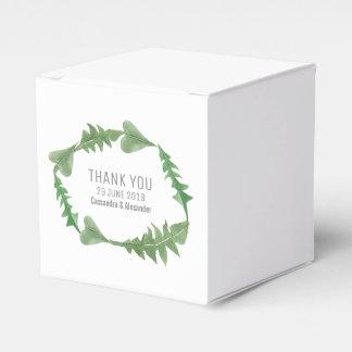 Grün-Aquarell-Laub-Hochzeit Geschenkschachtel