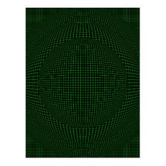 Grün auf schwarzen Realitätsbereichen Postkarte