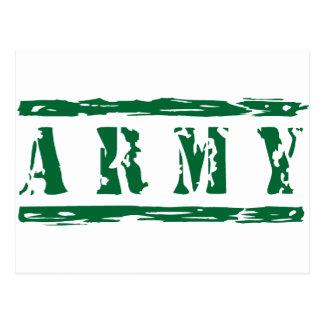 Grün beunruhigte Armee Postkarte