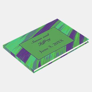Grün-blauer FarbSwish abstrakt Gästebuch
