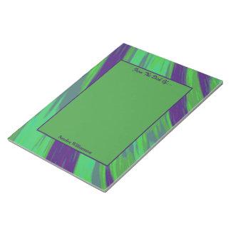 Grün-blauer FarbSwish abstrakt Notizblock