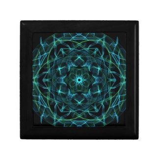 Grün-blauer Kreis Geschenkbox