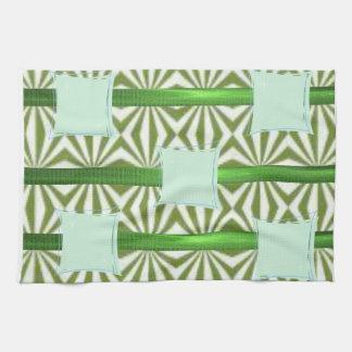 grün-blaues aztekisches Küchenhandtuch Handtuch