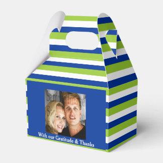 Grün-blaues Hochzeit FOTO 2 Geschenkkarton