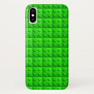 Grün blockiert Muster iPhone X Hülle