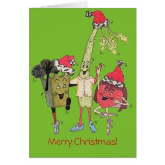 """Grün-""""Crunchy"""" Weihnachtskarte Karte"""