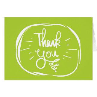Grün danken Ihnen zu kardieren Karte