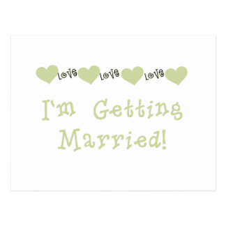 Grün, das ich verheiratet erhalte postkarte