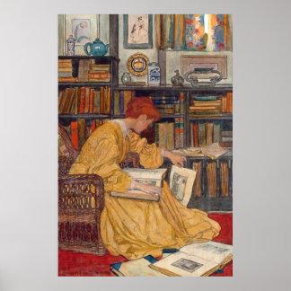 Grün Elizabeth Shippen - die Bibliothek Poster