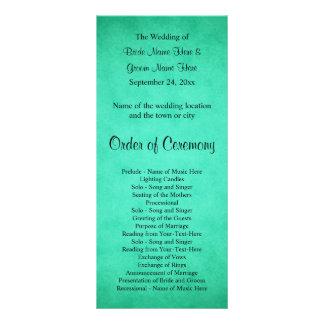 Grün gesprenkeltes Muster-Hochzeits-Programm Personalisierte Werbekarte