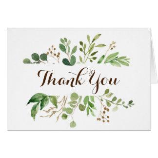 Grün gestalten die Wedding Grüntöne danken Ihnen Karte