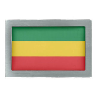 Grün, Gold (gelb) und rote Farbflagge Rechteckige Gürtelschnallen